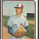 MONTREAL EXPOS BAYLOR MOORE 1974 TOPPS # 453 EX
