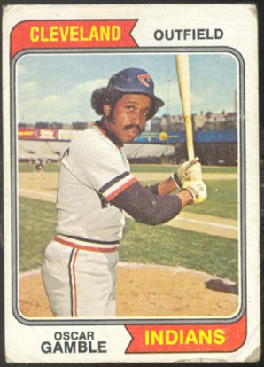CLEVELAND INDIANS OSCAR GAMBLE 1974 TOPPS # 152 G+