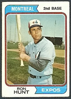 MONTREAL EXPOS RON HUNT 1974 TOPPS # 275 G