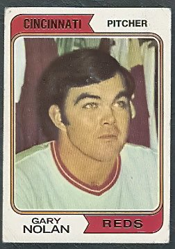 CINCINNATI REDS GARY NOLAN 1974 TOPPS # 277 G+/VG