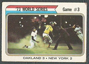 WORLD SERIES GAME 3 METS ATHLETICS 1974 TOPPS # 474 G