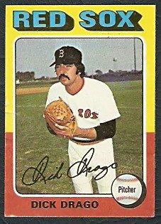 BOSTON RED SOX DICK DRAGO 1975 TOPPS MINI # 333 G/VG