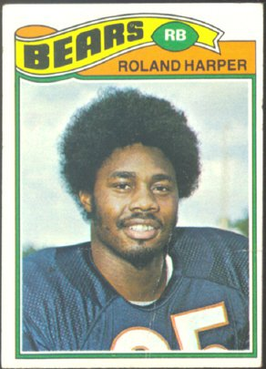 CHICAGO BEARS ROLAND HARPER 1977 TOPPS # 39 VG