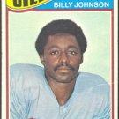 HOUSTON OILERS BILLY JOHNSON 1977 TOPPS # 59 VG