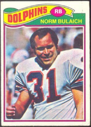 MIAMI DOLPHINS NORM BULAICH 1977 TOPPS # 134 VG