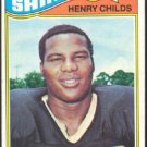 NEW ORLEANS SAINTS HENRY CHILDS 1977 TOPPS # 68 EX/EX MT