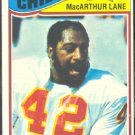 KANSAS CITY CHIEFS MacARTHUR LANE 1977 TOPPS # 273 VG