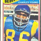 LOS ANGELES RAMS CHARLEY YOUNG 1977 TOPPS # 275 VG