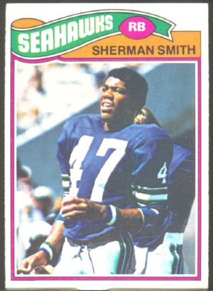 SEATTLE SEAHAWKS SHERMAN SMITH 1977 TOPPS # 337 EX MT