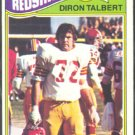 WASHINGTON REDSKINS DIRON TALBERT 1977 TOPPS # 369 VG