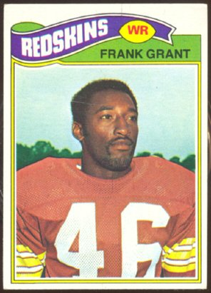 WASHINGTON REDSKINS FRANK GRANT 1977 TOPPS # 289 EX+/EX MT