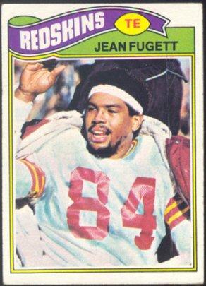WASHINGTON REDSKINS JEAN FUGETT 1977 TOPPS # 12 VG