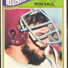 WASHINGTON REDSKINS RON SAUL 1977 TOPPS # 131 VG