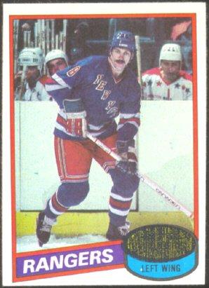 NEW YORK RANGERS STEVE VICKERS 80/81 TOPPS # 23 NR MT