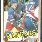 NEW YORK RANGERS ULF NILSSON 81/82 TOPPS # 102 NR MT