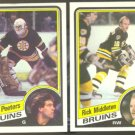10 DIFF 84/85 TOPPS BOSTON BRUINS OREILLY MIDDLETON PEETERS ++