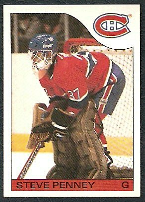 MONTREAL CANADIENS STEVE PENNEY 85/86 TOPPS # 4 NR MT