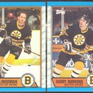 BOSTON BRUINS 1989 TEAM LOT LINSEMAN WESLEY CARPENTER 8 DIFFERENT