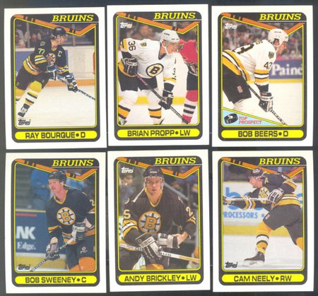 6 DIFF BOSTON BRUINS 90/91 TOPPS RAY BOURQUE CAM NEELY