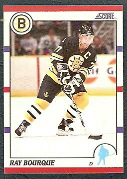 BOSTON BRUINS RAY BOURQUE 90/91 SCORE #200 + A.S. #313 NM/MT