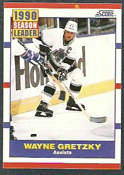LOS ANGELES KINGS WAYNE GRETZKY ASSIST LDR 90/91 SCORE # 352