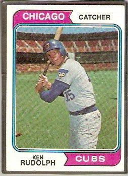 CHICAGO CUBS KEN RUDOLPH 1974 TOPPS # 584 VG+/EX