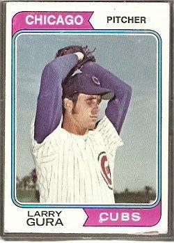 CHICAGO CUBS LARRY GURA 1974 TOPPS # 616 VG
