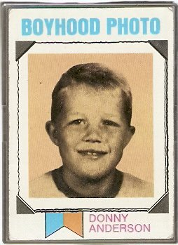 ST LOUIS CARDINALS DONNY ANDERSON BOYHOOD PHOTO 1973 TOPPS # 265 G