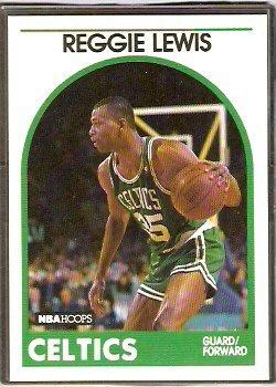BOSTON CELTICS REGGIE LEWIS 1989 HOOPS # 17 NR MT