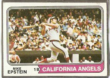 CALIFORNIA ANGELS MIKE EPSTEIN 1974 TOPPS # 650 VG