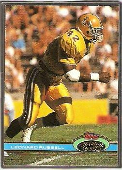 New England Patriots Leonard Russell RC Rookie Card 1991 Topps Stadium Club Football Card # 435