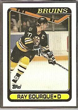 BOSTON BRUINS RAY BOURQUE 90/91 TOPPS # 43
