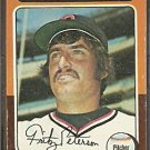 CLEVELAND INDIANS FRITZ PETERSON 1975 TOPPS # 62 F/G