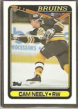BOSTON BRUINS CAM NEELY 90/91 TOPPS # 69