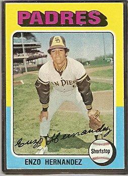 SAN DIEGO PADRES ENZO HERNANDEZ 1975 TOPPS # 84 VG