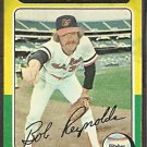 BALTIMORE ORIOLES BOB REYNOLDS 1975 TOPPS # 142 G