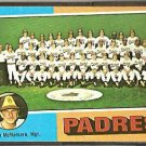 SAN DIEGO PADRES TEAM CARD 1975 TOPPS # 146