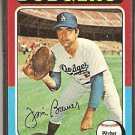 LOS ANGELES DODGERS JIM BREWER 1975 TOPPS # 163 VG