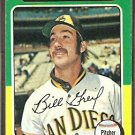 SAN DIEGO PADRES BILL GREIF 1975 TOPPS # 168 VG