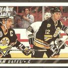 BOSTON BRUINS ADAM OATES LL w/ RAY BOURQUE 1993 TOPPS PREMIER # 74