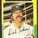 NEW YORK YANKEES DICK TIDROW 1975 TOPPS # 241 VG