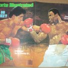 LARRY HOLMES GERRY COONEY 1982 SPORTS ILL INDY 500 NEW YORK METS SIXERS DIRT TRACK MOTORCYCLE