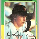 San Francisco Giants Ed Goodson 1975 Topps Baseball Card # 322 g/vg