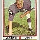Minnesota Vikings Milt Sunde 1974 Topps Football Card # 57 ex/em