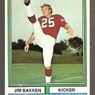 St Louis Cardinals Jim Bakken 1974 Topps Football Card 60 ex/em