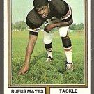 Cincinnati Bengals Rufus Mayes 1974 Topps Football Card 61 ex