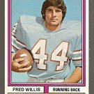 Houston Oilers Fred Willis 1974 Topps Football Card # 75 ex/em