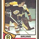 BOSTON BRUINS CAROL VADNAIS 74/75 TOPPS # 165 VG