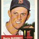 1991 TOPPS ARCHIVE BOSTON RED SOX MAURICE McDERMOTT 1953 TOPPS # 55