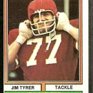 KANSAS CITY CHIEFS JIM TYRER 1974 TOPPS # 85 EX